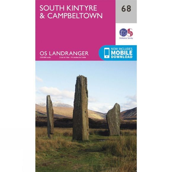 Landranger Map 68 South Kintyre and Campbeltown