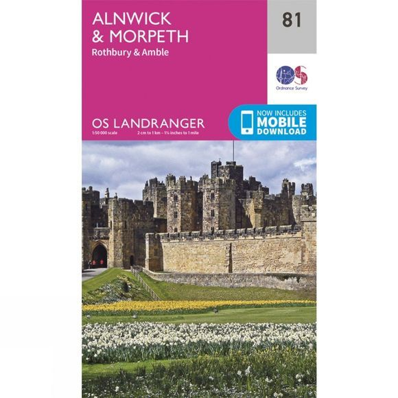 Landranger Map 81 Alnwick and Morpeth