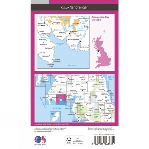 Ordnance Survey Landranger Map 83 Newton Stewart and Kirkcudbright V16
