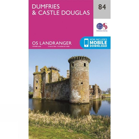 Ordnance Survey Landranger Map 84 Dumfries and Castle Douglas V16