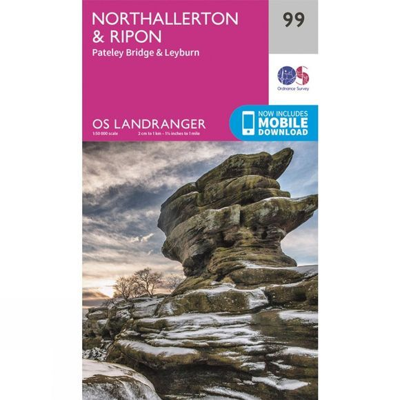 Ordnance Survey Landranger Map 99 Northallerton and Ripon V16