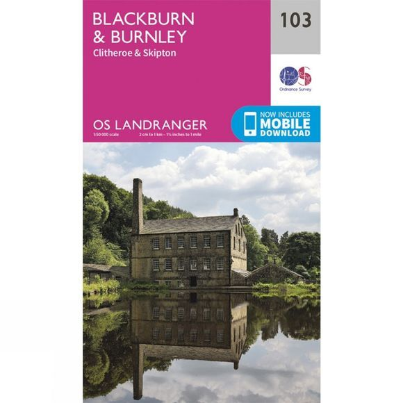 Landranger Map 103 Blackburn and Burnley