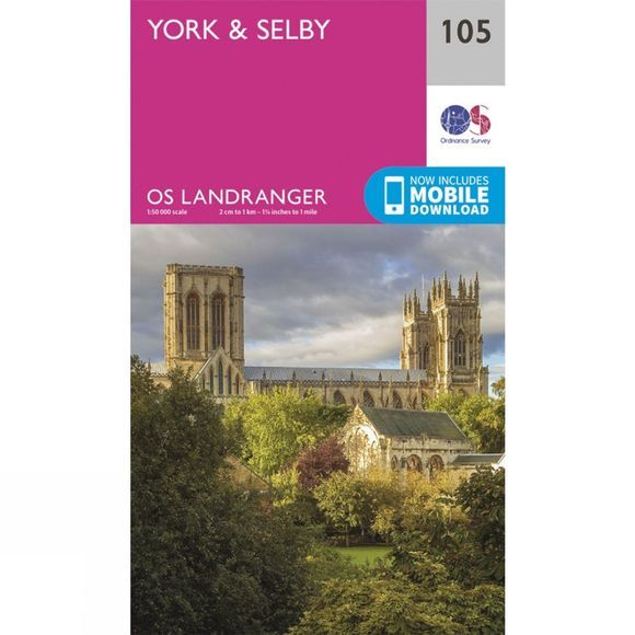 Landranger Map 105 York and Selby