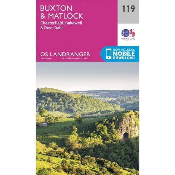Landranger Map 119 Buxton and Matlock