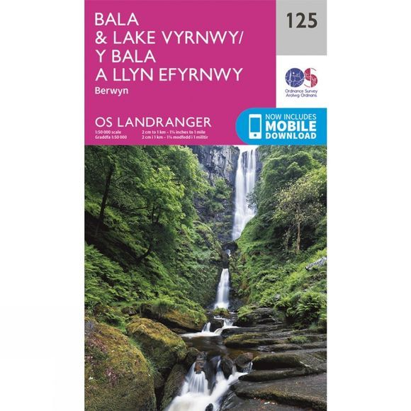 Ordnance Survey Landranger Map 125 Bala and Lake Vyrnwy V16