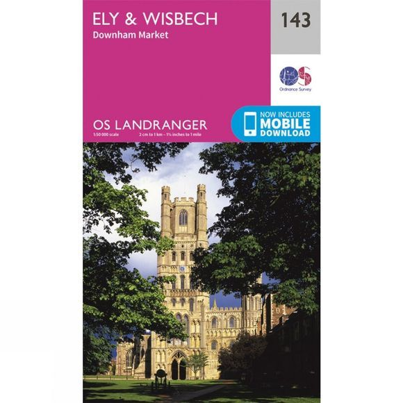 Ordnance Survey Landranger Map 143 Ely and Wisbech V16