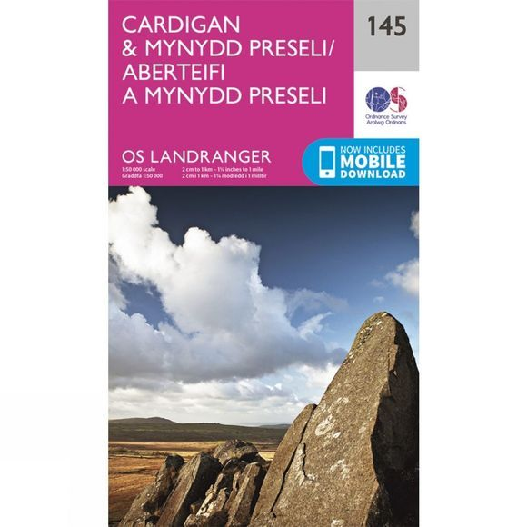 Landranger Map 145 Cardigan and Mynydd Preseli