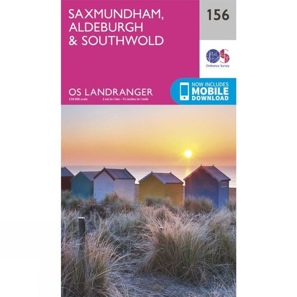 Ordnance Survey Landranger Map 156 Saxmundham, Aldeburgh and Southwold V16