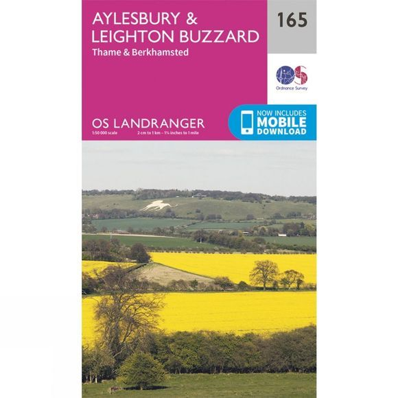 Ordnance Survey Landranger Map 165 Aylesbury and Leighton Buzzard V16