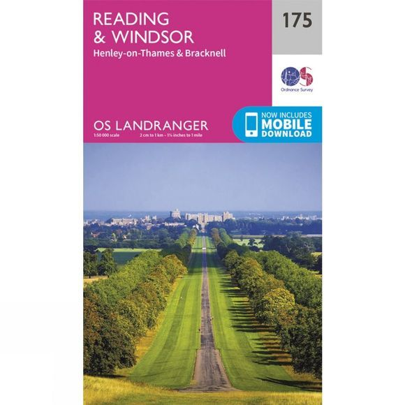 Ordnance Survey Landranger Map 175 Reading and Windsor V16