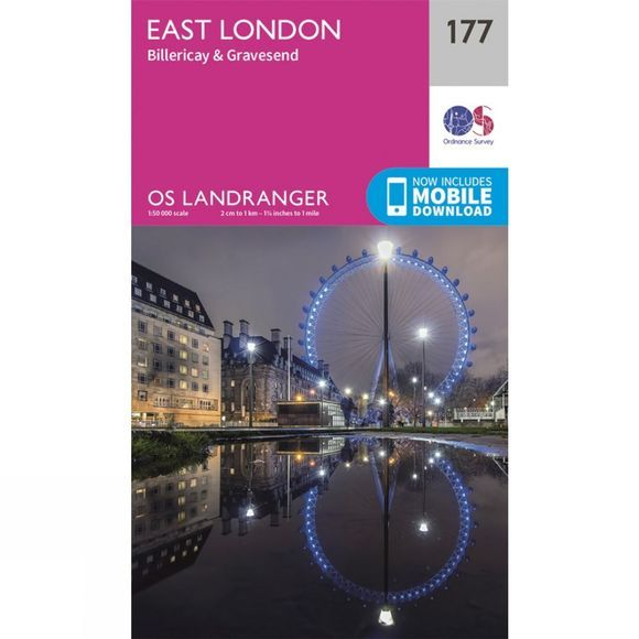 Ordnance Survey Landranger Map 177 London East V16