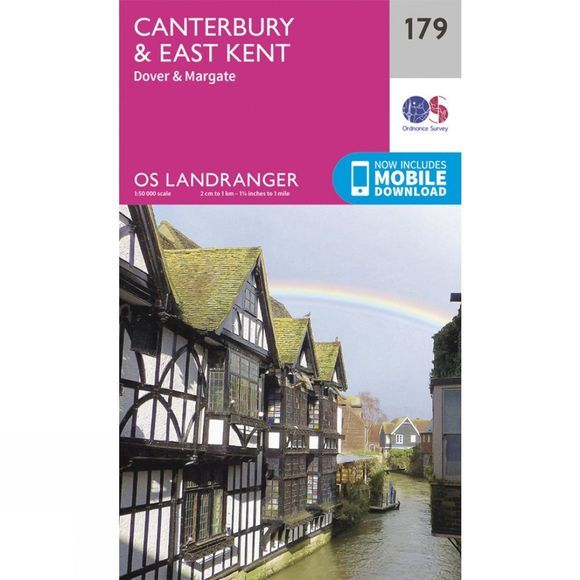 Landranger Map 179 Canterbury and East Kent