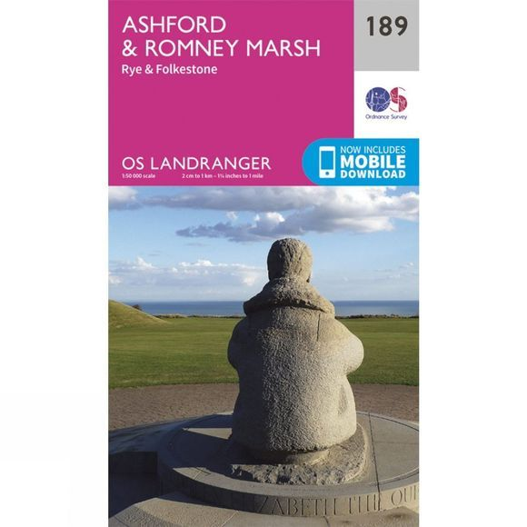 Landranger Map 189 Ashford and Romney Marsh