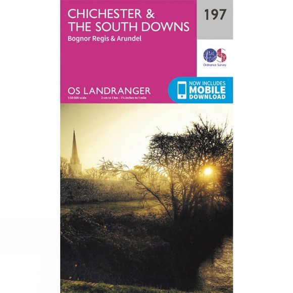 Landranger Map 197 Chichester and The South Downs