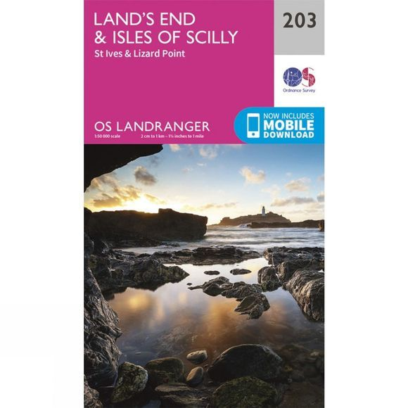 Landranger Map 203 Land's End and Isles of Scilly