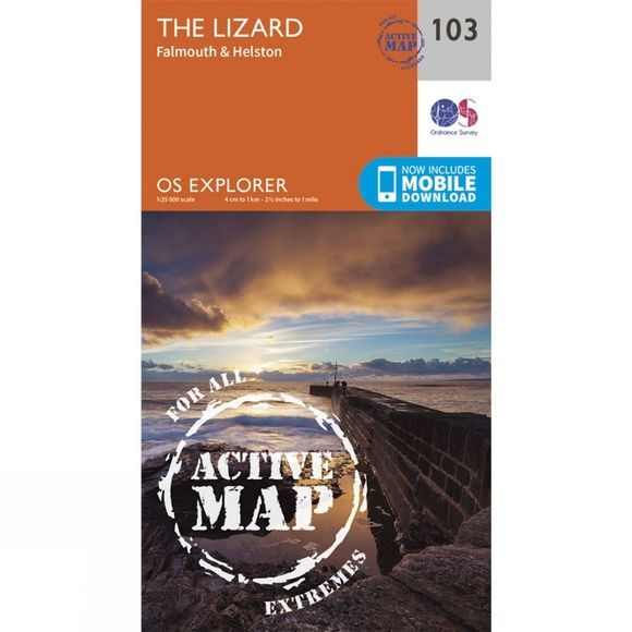 Active Explorer Map 103 The Lizard