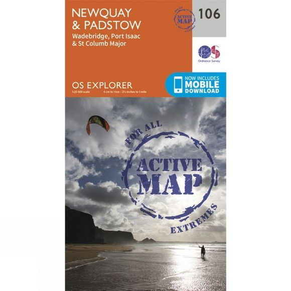 Active Explorer Map 106 Newquay and Padstow
