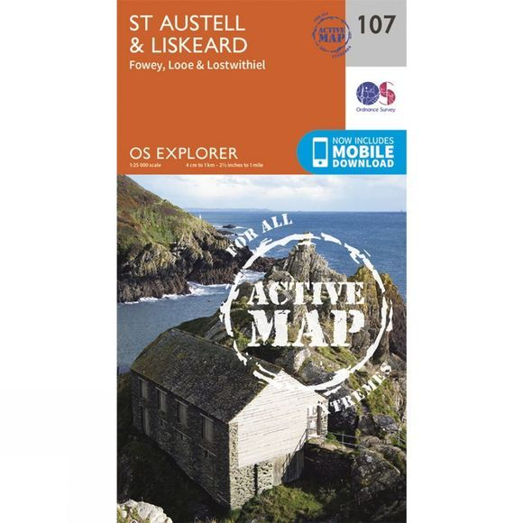Active Explorer Map 107 St Austell and Liskeard