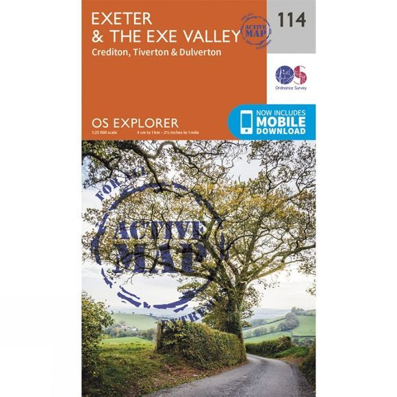 Active Explorer Map 114 Exeter and the Exe Valley