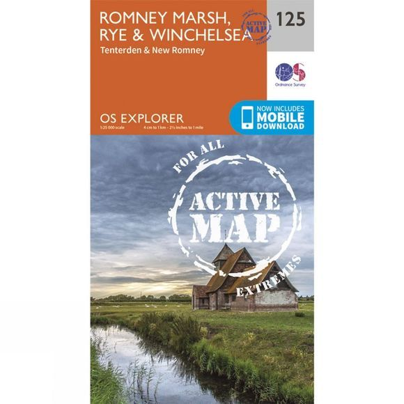 Active Explorer Map 125 Romney Marsh, Rye and Winchelsea