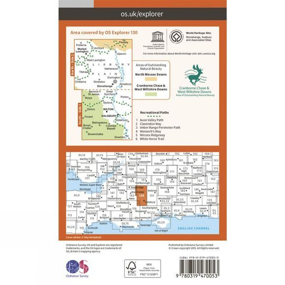 Active Explorer Map 130 Salisbury and Stonehenge