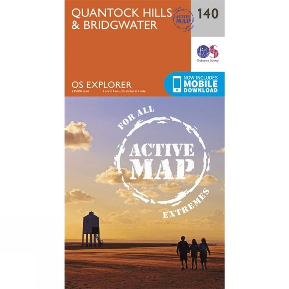 Active Explorer Map 140 Quantock Hills and Bridgwater