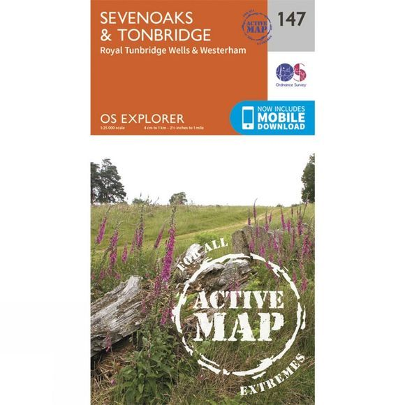 Active Explorer Map 147 Sevenoaks and Tonbridge