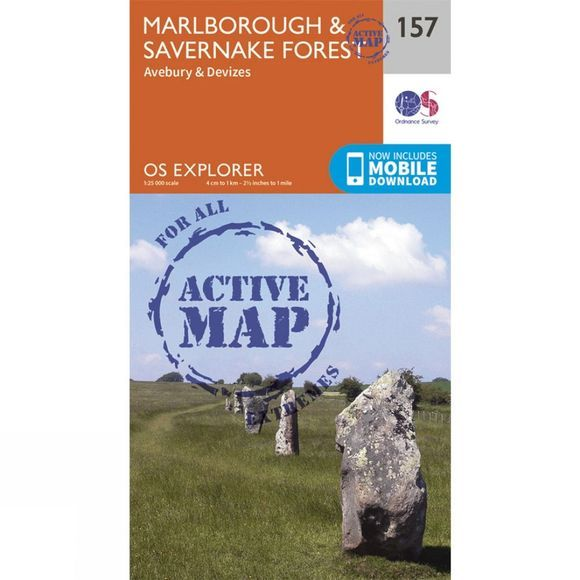 Ordnance Survey Active Explorer Map 157 Marlborough and Savernake Forest V15