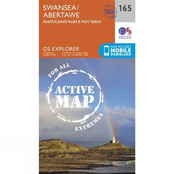 Active Explorer Map 165 Swansea
