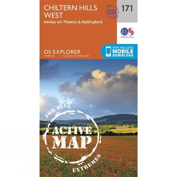 Ordnance Survey Active Explorer Map 171 Chiltern Hills West V15
