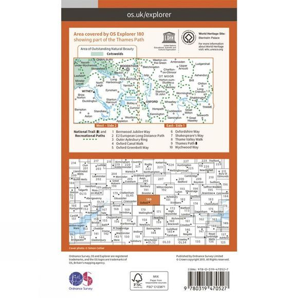 Active Explorer Map 180 Oxford