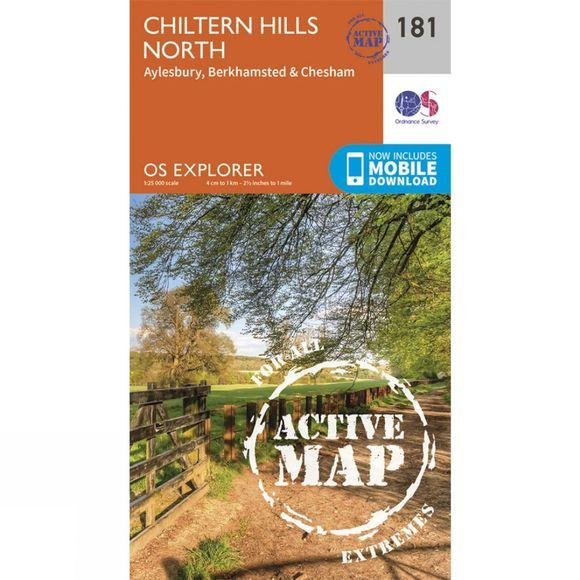 Ordnance Survey Active Explorer Map 181 Chiltern Hills North V15