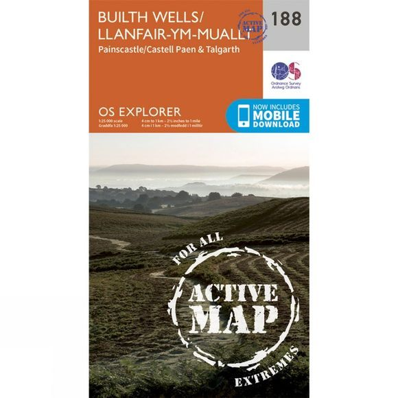 Active Explorer Map 188 Builth Wells