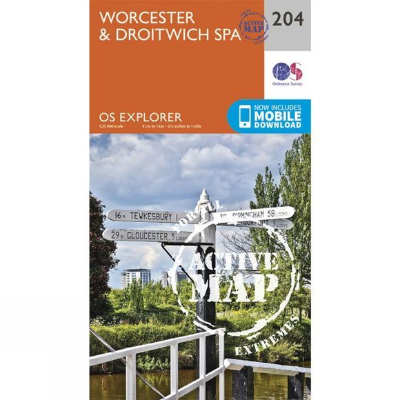 Active Explorer Map 204 Worcester and Droitwich Spa