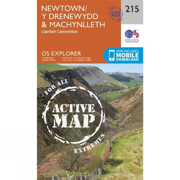Active Explorer Map 215 Newtown and Machynlleth