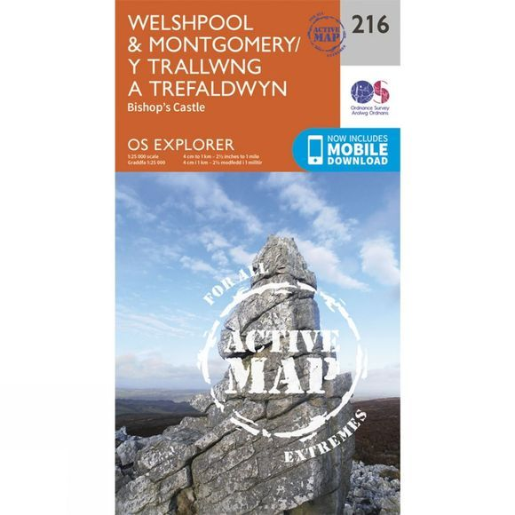 Active Explorer Map 216 Welshpool and Montgomery