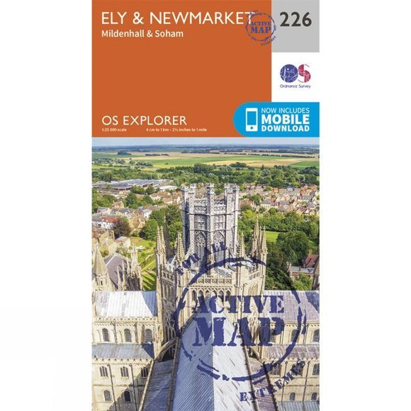 Active Explorer Map 226 Ely and Newmarket