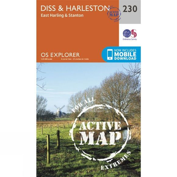 Active Explorer Map 230 Diss and Harleston