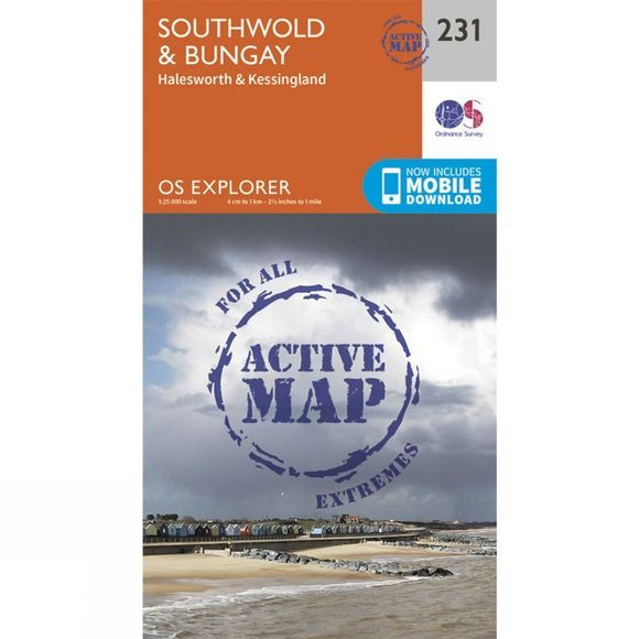 Ordnance Survey Active Explorer Map 231 Southwold and Bungay V15