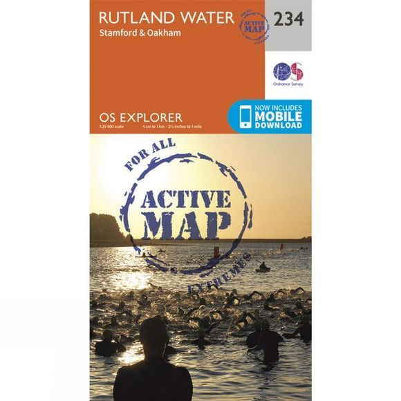 Ordnance Survey Active Explorer Map 234 Rutland Water V15