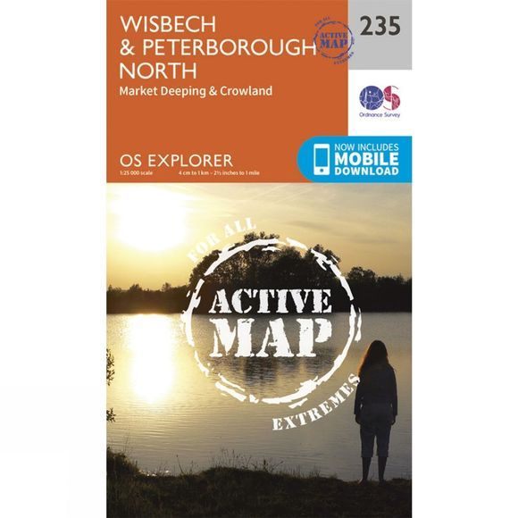Active Explorer Map 235 Wisbech and Peterborough North