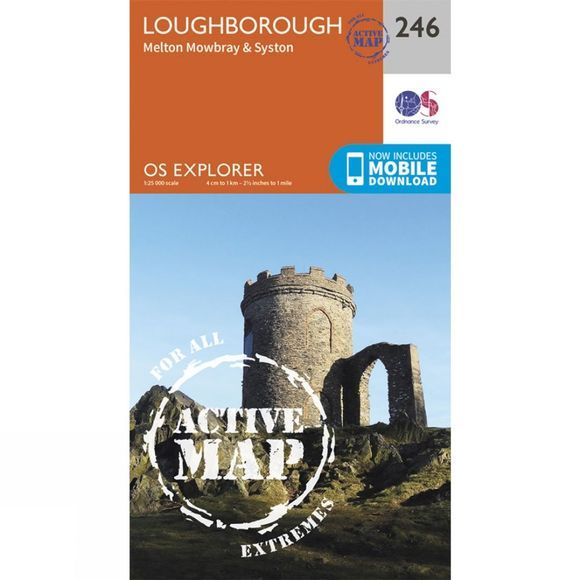 Ordnance Survey Active Explorer Map 246 Loughborough V15