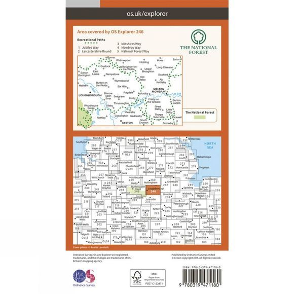 Active Explorer Map 246 Loughborough