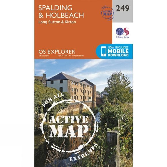 Ordnance Survey Active Explorer Map 249 Spalding and Holbeach V15