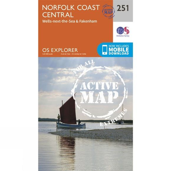 Active Explorer Map 251 Norfolk Coast Central
