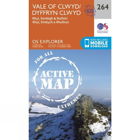 Active Explorer Map 264 Vale of Clwyd
