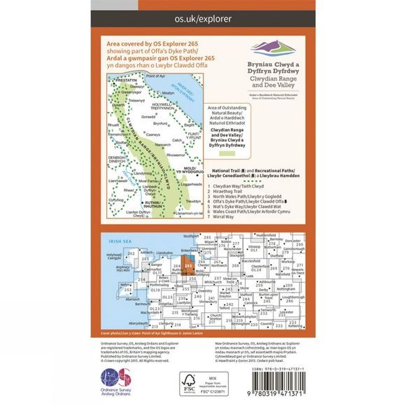Active Explorer Map 265 Clwydian Range