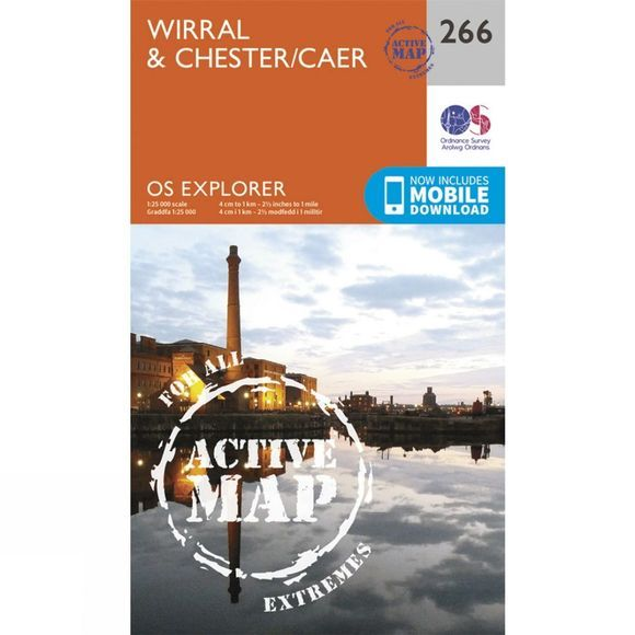 Ordnance Survey Active Explorer Map 266 Wirral and Chester V15