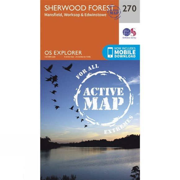 Active Explorer Map 270 Sherwood Forest
