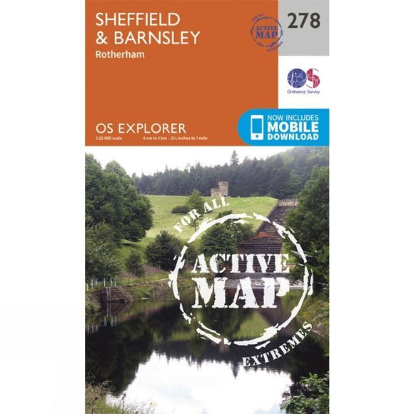 Active Explorer Map 278 Sheffield and Barnsley